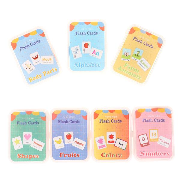 Nummerminneutbildning Tidigt lärande engelska Flash Card Fruit 4(Body parts)