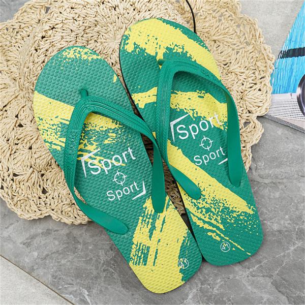 2021 sommar fritid mode strandskor Använd antiskridglida Green 42