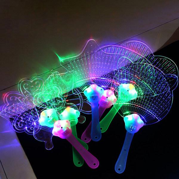 Butterfly Bee LED Lighting Flashing Flat Hand Fan Fan Toy Concert P A6