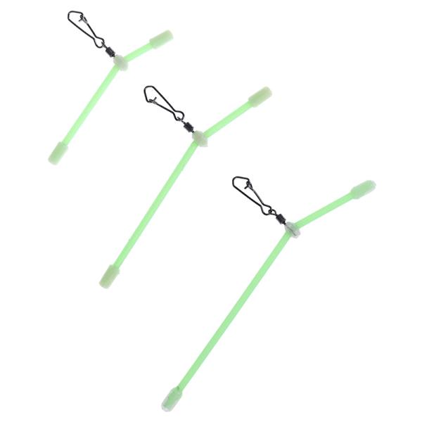 5st Fiskehooked Balance Plastic Head Snaps med stark stift
