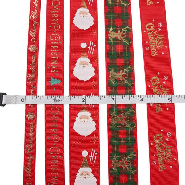 5Yards Christmas Grosgrain Snowman Ribbon DIY Xmas Party Gift W