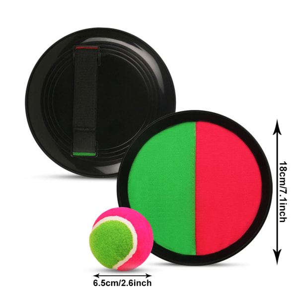 2 set Toss and Catch Ball Set Beach Games med 4 Sticky Paddles Multicolor