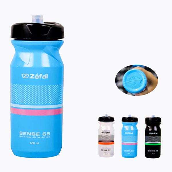 Cykelvattenflaska 650/800ml Klämbar Smakfri BPA-fri B Transparent 650ml
