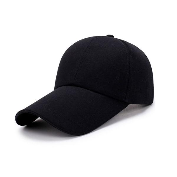 Utomhus baseball hatt Running Visor Cap andas Snabbtorkande Me Black