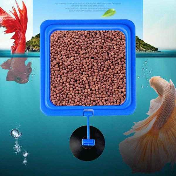 akvarium utfodring fisk akvarium station flytande bricka matning A6