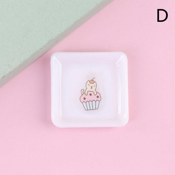 Doll House 1:12 porslin Cartoon Cake Animal Bray Mini Model D D
