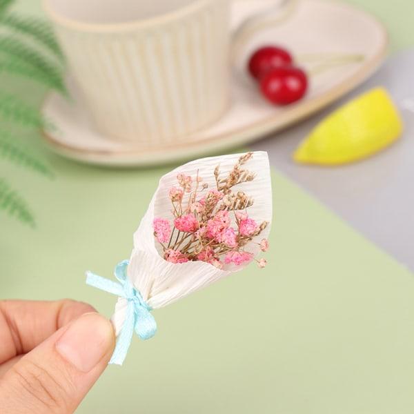 1/12 dockhus miniatyr ros blomma röd bukett klassiska leksaker F one size