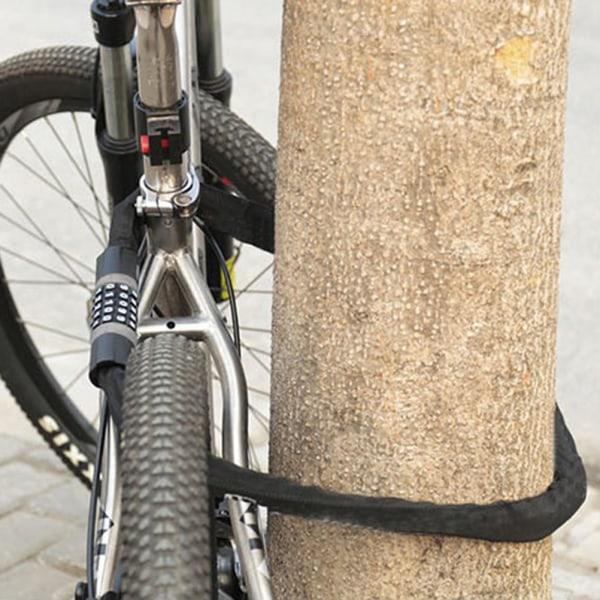 Cykel 5-siffrigt stöldskydd Säkerhetskodat lås stålkedjekabel