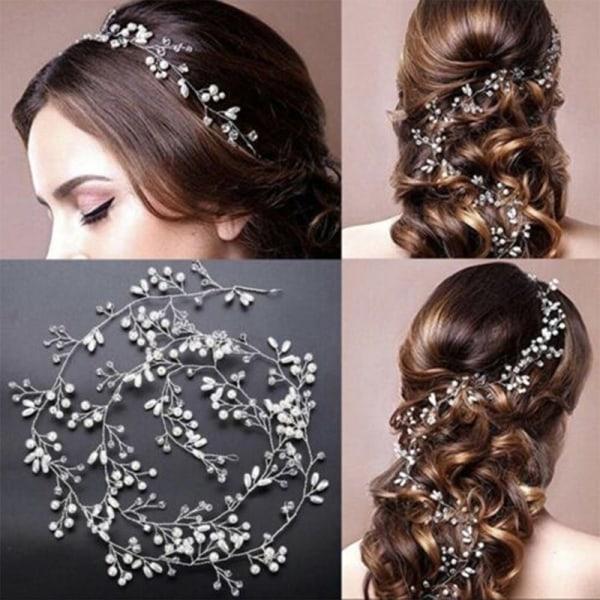 Brudhår tillbehör hårstycken tiara lady bröllop huvudbonad