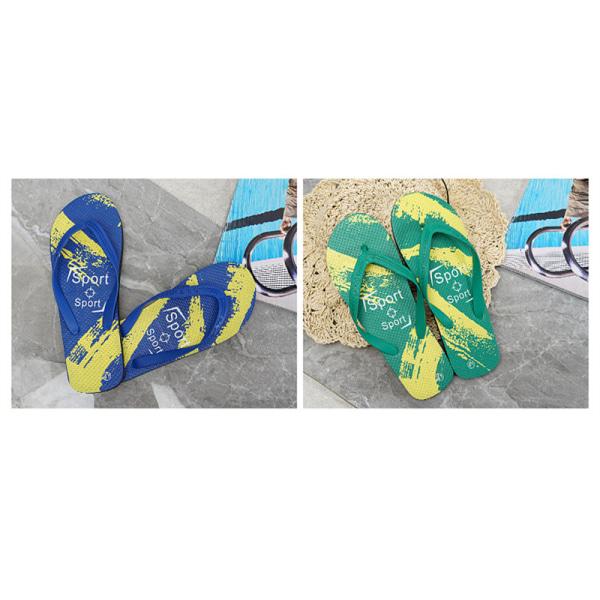 2021 sommar fritid mode strandskor Använd antiskridglida Blue 42