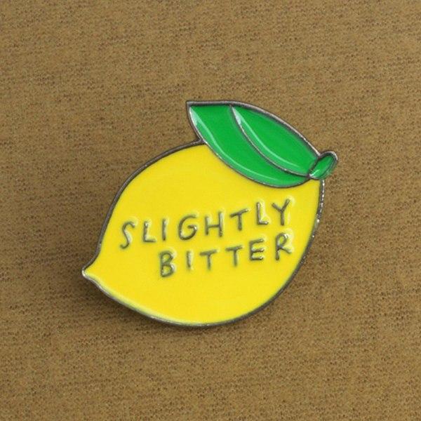 Söt Citron Corsage Emalj Brosch Pin Pin Badge Shirt Lapel Collar F