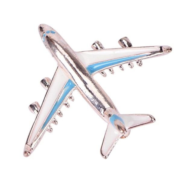 Söt liten flygplan brosch blå legering brosch Pin Fighter Aircr