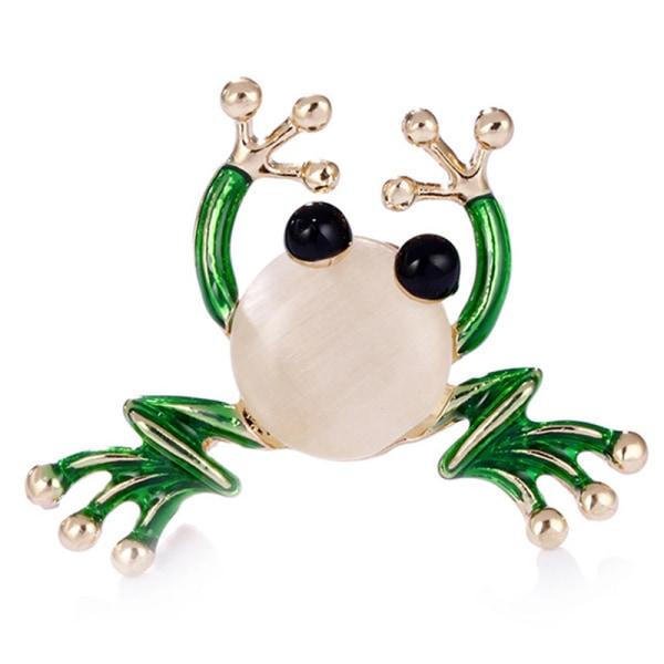 Söta små groda emblem brosch skjorta krage broschnål smycken
