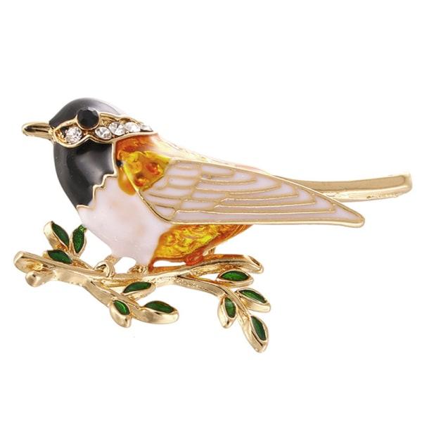 Emalj Bird Brooch Pin Crystal Rhinestone Animal Brooch Pin Clo
