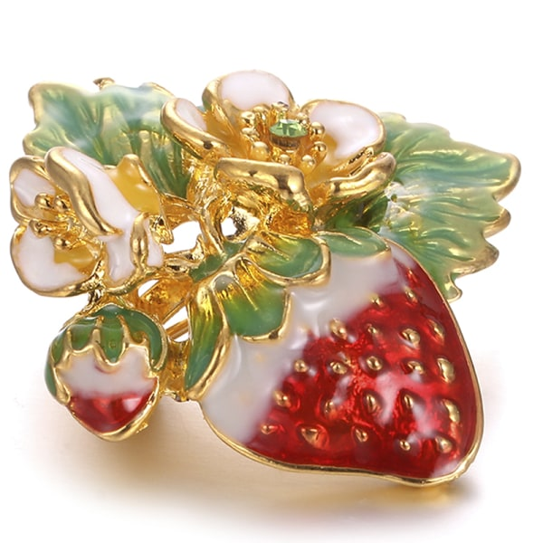 Emalj Strawberry Brooch Pin Shirt Collar Bouquet Fruit Brooch