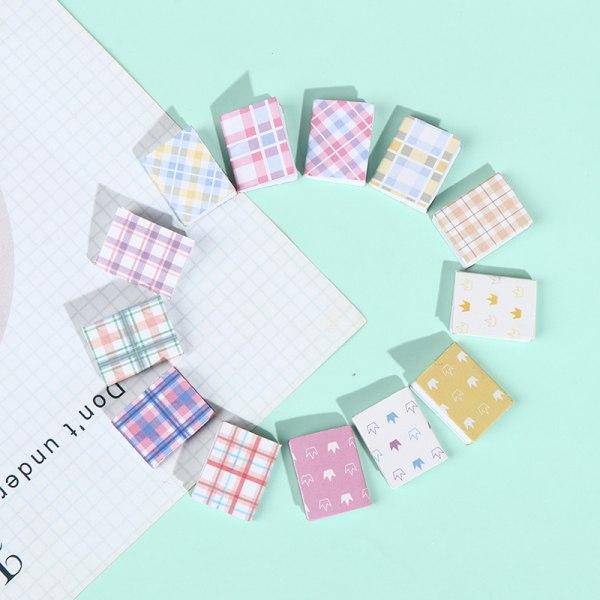 4st/set Dollhouse Color Plaid Stripes Book Notebook Home Acces H