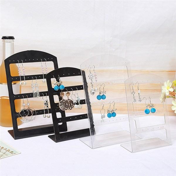 Mode Smycken Displayhållare L Style Organizer Örhängen Displ