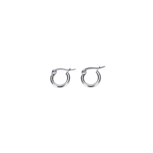Mode Silverpläterat rostfritt stål 2 mm tunn polerad rund H