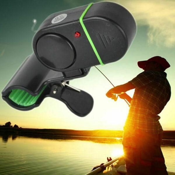 Fiskelarm Elektronisk LED Fish Bite Sound Alarm Bell Klämma på