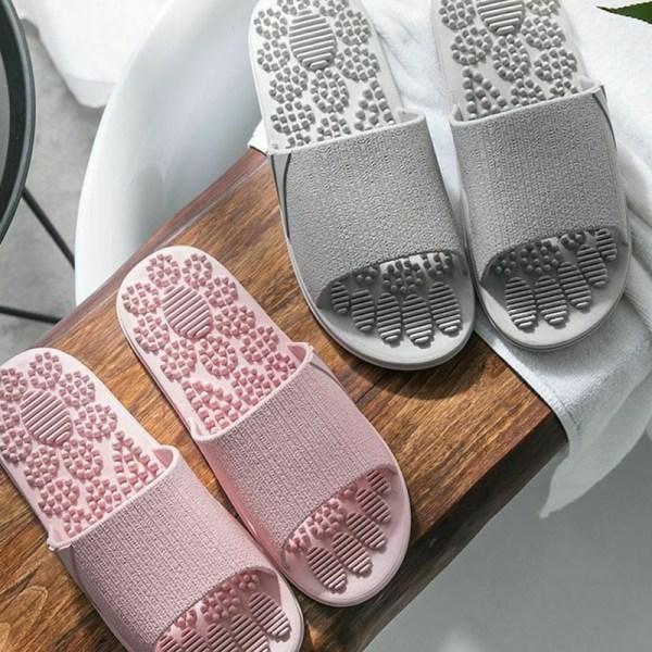 Fotmassage tofflor öppen tå halkfria sandaler Spa strandskor