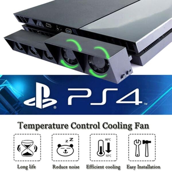 För PS4 5-fläkt playstation kylning extern turbotemperatur co