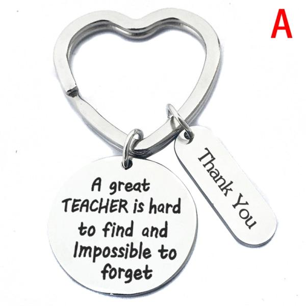 Nyckelring Ring Nyckelhållare Rostfritt stål Lärarnas dag Tack Y