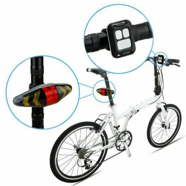 LED Cykel Bakljus Cykelbromsljus Blinker Fjärrkontroll Wa