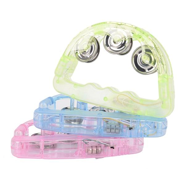 Led Light Up blinkande tamburin skakar sensorisk leksak glödande Ha