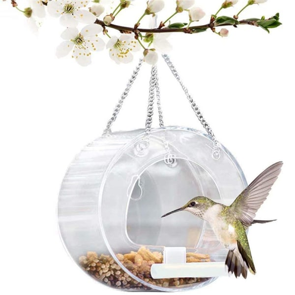 rund akryl fågelmatare klar blomma insatser fågelbricka garn Clear