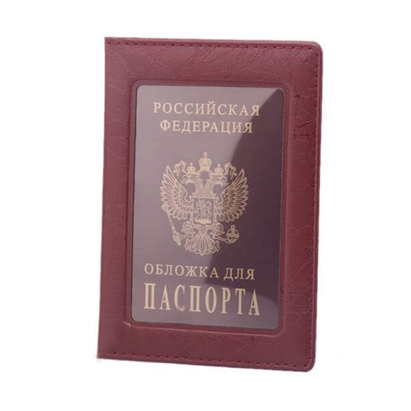 Ryssland Pass Cover Clear Card ID Holder Case för resor