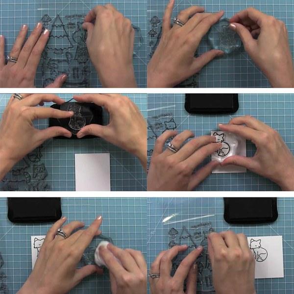 Santa Claus Gnome Clear Stamp Cutting Die DIY Scrapbooking Albu