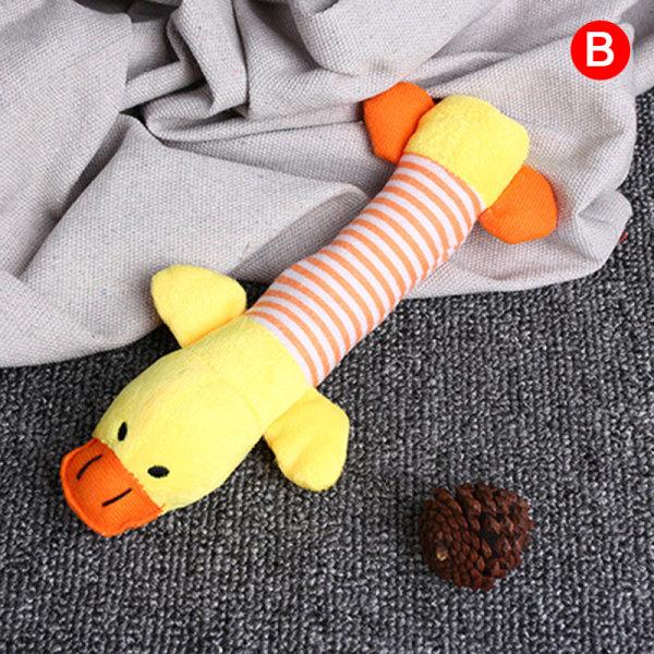 Squeak Chew Dog Cat Toys Ljuddockor Husdjur Rolig plysch Elefant D.