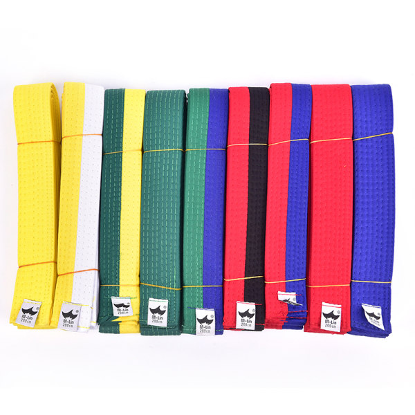 Taekwondo Belt Karate Double Wrap Belt Martial Arts Alla färger