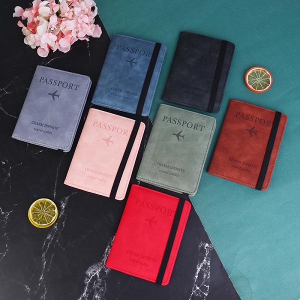 Kvinnor Män Vintage Business Pass Cover Holder Multi-Functio