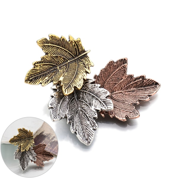 Kvinnor Vintage Maple Leaf Brosch Gold Silver Plated Brooches Pin