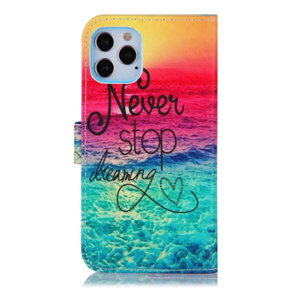 Never stop dreaming iPhone 12/12 Pro Plånboksfodral