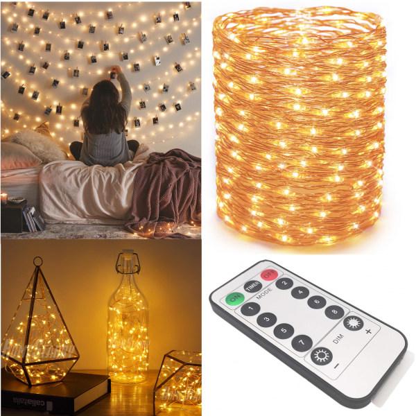 Dekorationsslinga 5m LED med kontroll 50st lampor