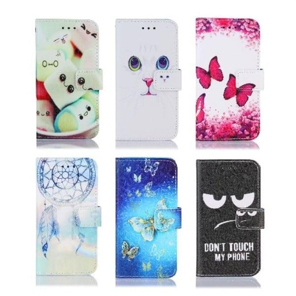 Plånboksfodral iPhone 12/12 Pro GadgetMe - Olika Motiv Rosa Fjärilar