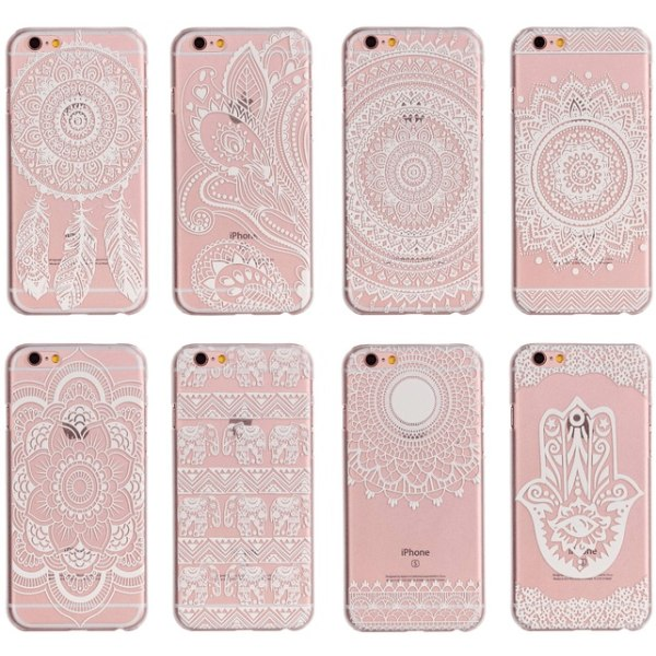 Baksideskal iPhone 7 Plus / 8 Plus - Henna Motiv 3