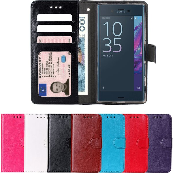 Sony xperia XZ1 - Plånboksfodral svart