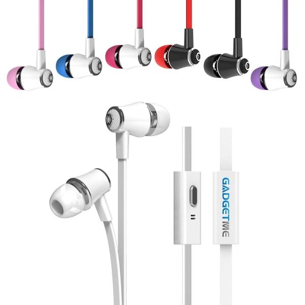 Färgglada Hörlurar med mikrofon för samtal lila