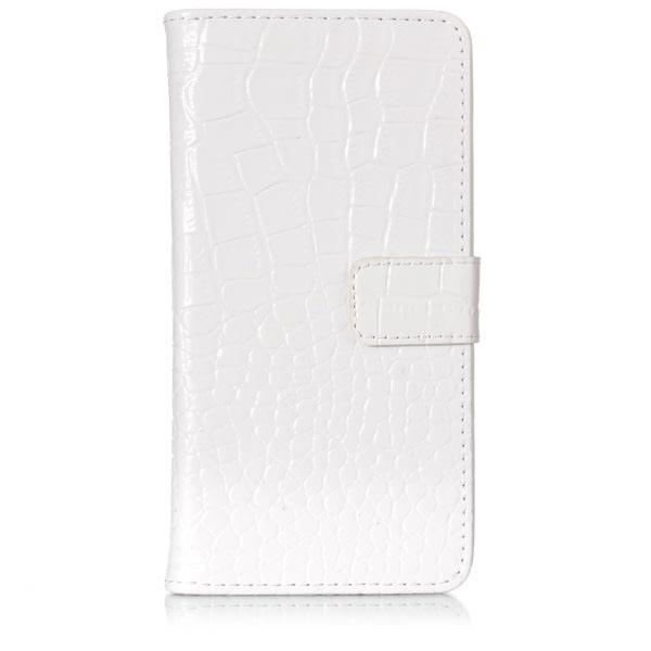 GadgetMe iPhone 6/6S Plånboksfodral - Krokodil mönstrad svart