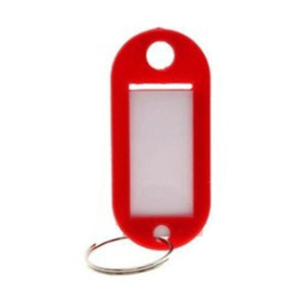 Nøglering med navneskilt [Oval] - Rød - 5 -pakning Red