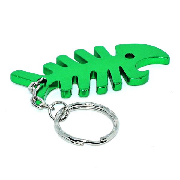 Nøglering - Flaskeåbner - Fisk - Grøn Green Grön