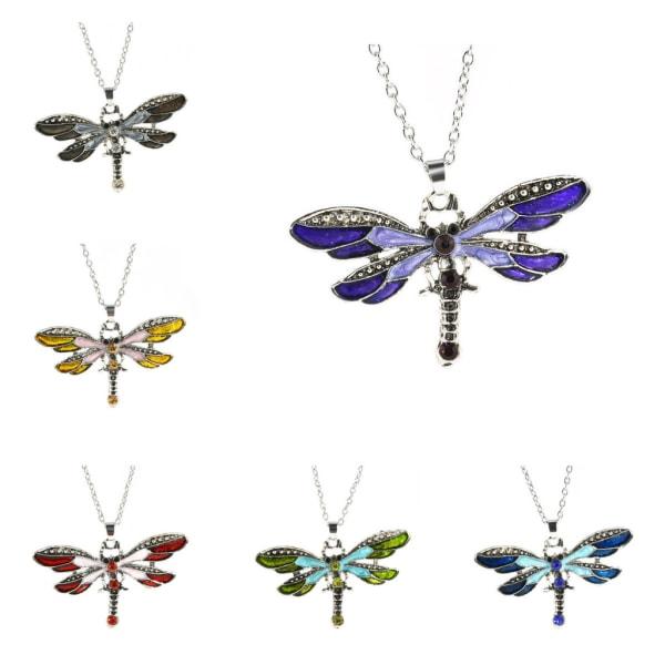 Halskæde - Dragonfly med 50 cm halskæde Blue Blå