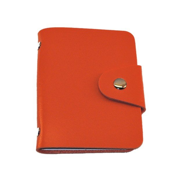 Kortholder i kunstlæder - 24 kortholder - Orange Orange