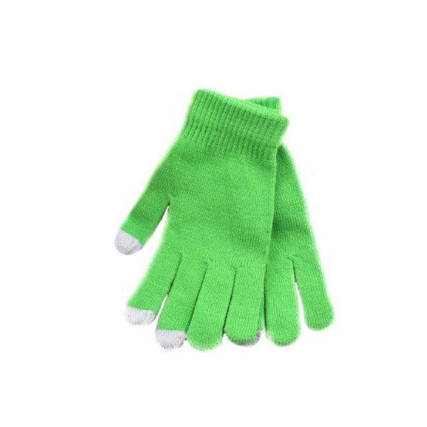 Älypuhelinkäsineet - Vaaleanvihreä - Kosketuskäsine - Käsineet Ljusgrön