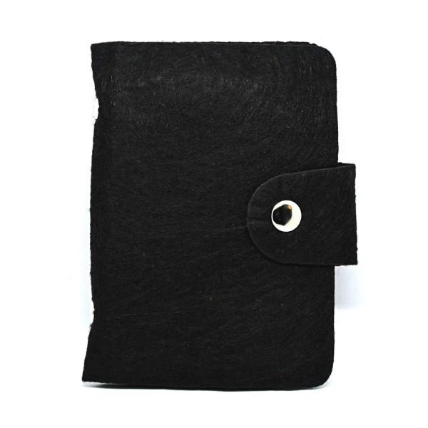 Credit card holder in felt - 24 card slots Black Black