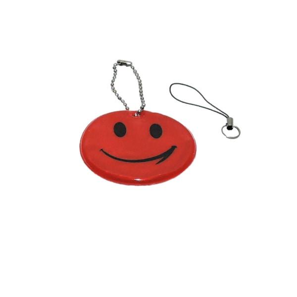 Refleks - Smiley - Rød Red Röd