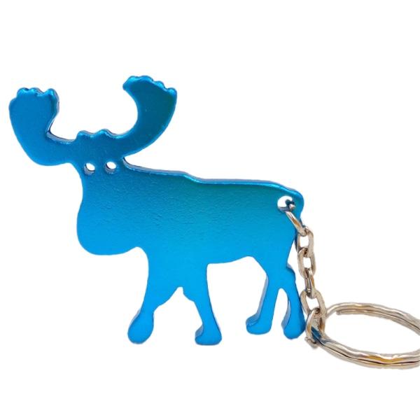 Avaimenperä - Pullonavaaja - Hirvi - Turkoosi Turquoise